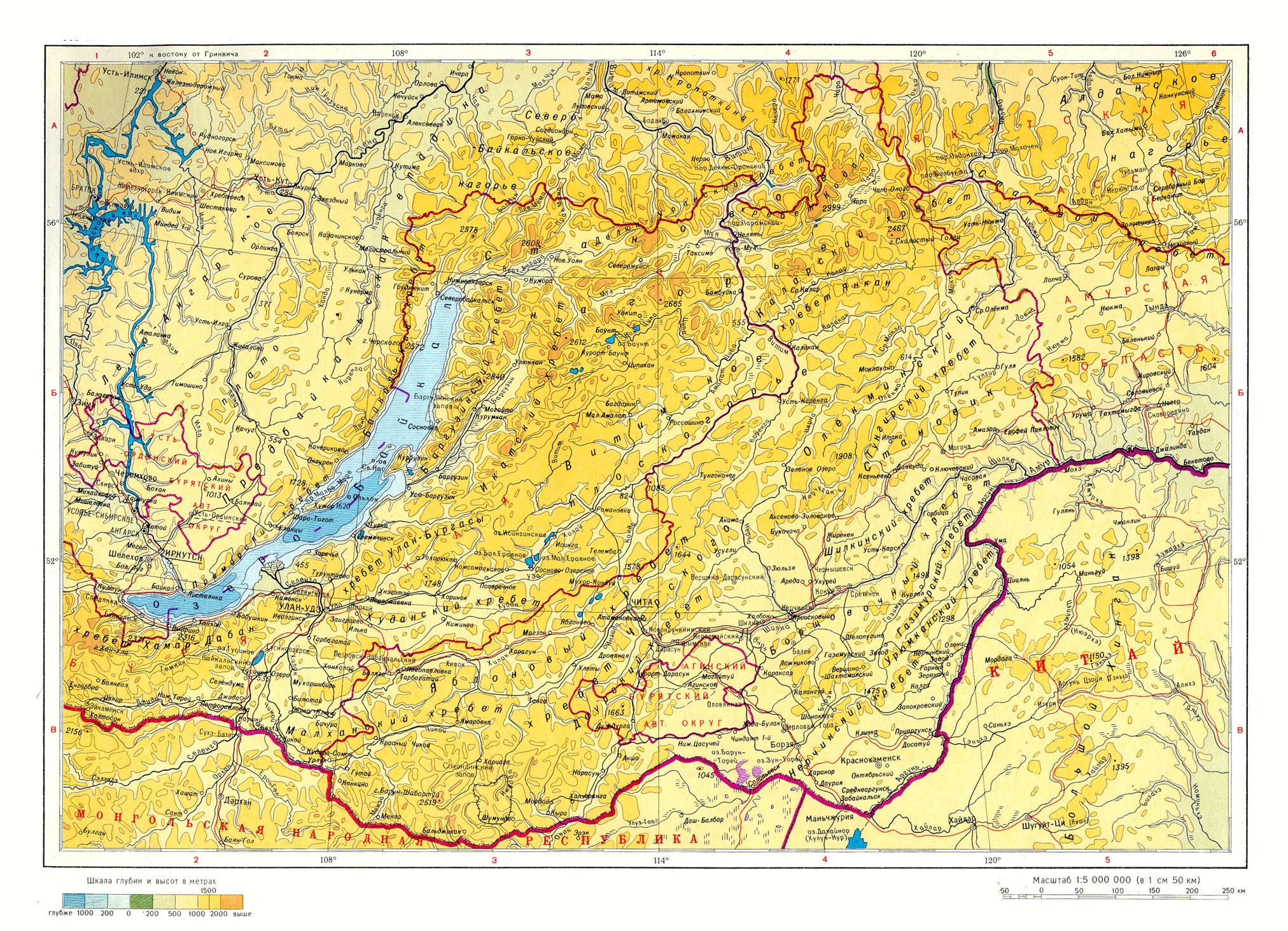 карты полезных ископаемых дальнего востока